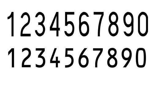 专用数字字体图片 - 浏览专用