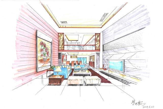工作室手绘效果图d3手绘工作室设计师原创迈克杰