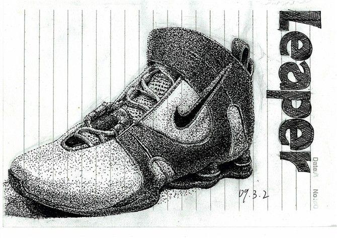 手绘鞋子案例图片 - 设计师985430664设计工作室的