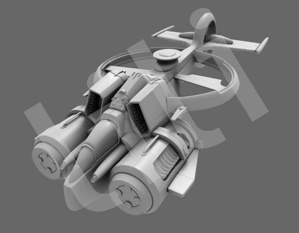玩具直升机图纸