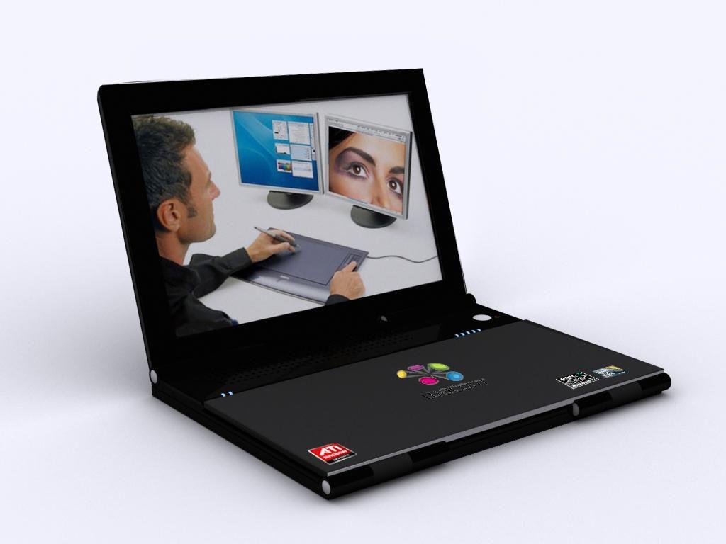 笔记本电脑设计3d建模案例图片 - 设计师u p 模艺的图片