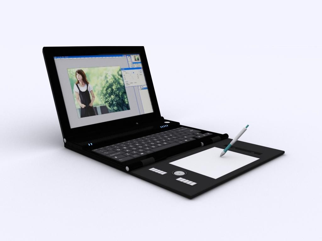 笔记本电脑设计3d建模