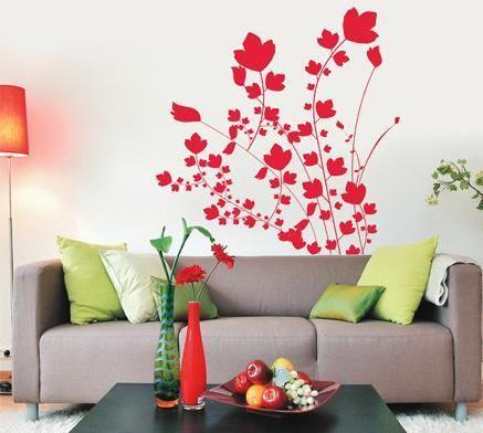 沙发手绘背景墙案例图片-青岛森宜手绘墙画-经典手绘