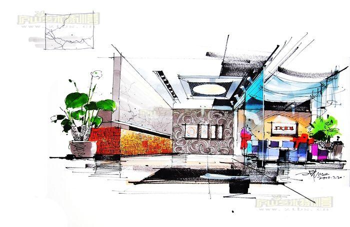 5案例图片-庐山艺术特训营经典室内手绘表现-手绘