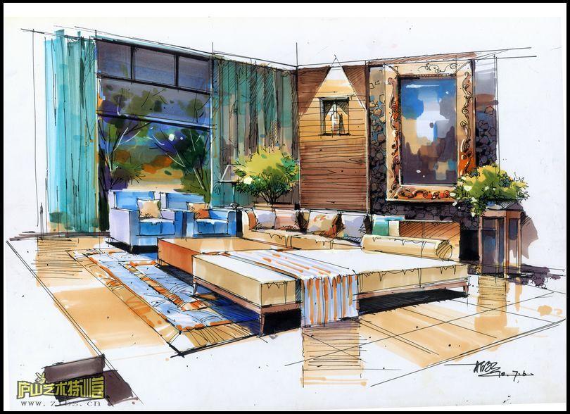 庐山艺术特训营经典室内手绘