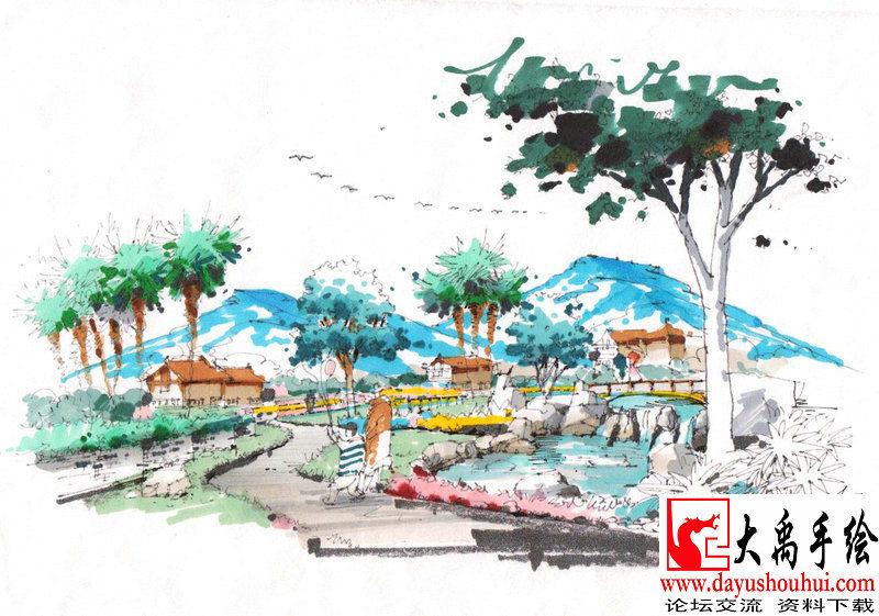 西安大禹手绘图