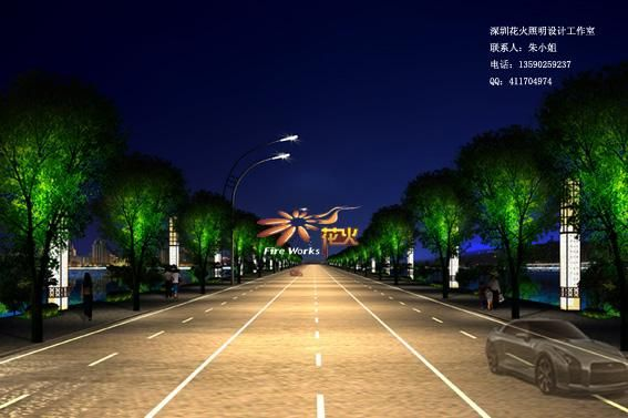 道路照明设计案例图片
