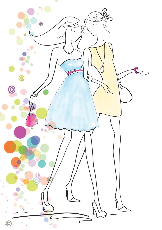 手绘时尚美女案例图片-手绘美女-手绘插画
