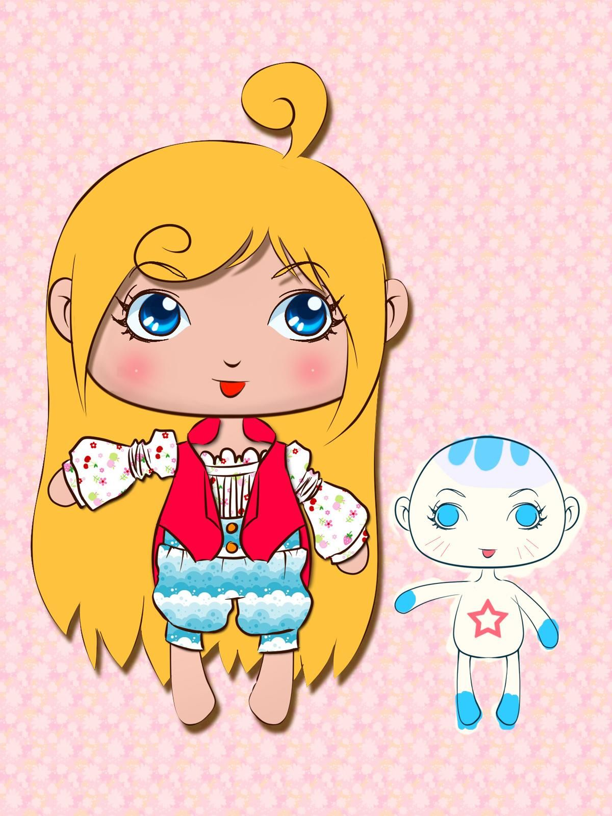 可爱的卡通小娃娃设计图