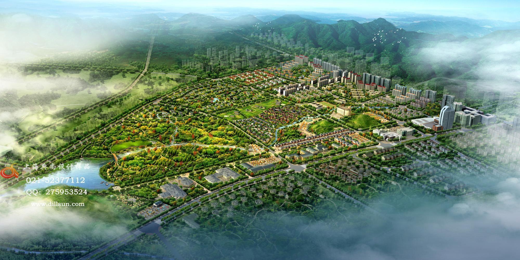 城市规划效果图案例图片-规划效果图-效果图