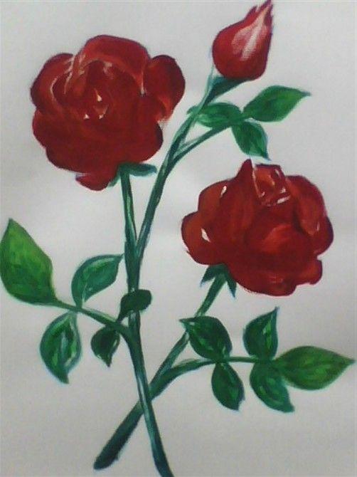 花的画画步骤图片