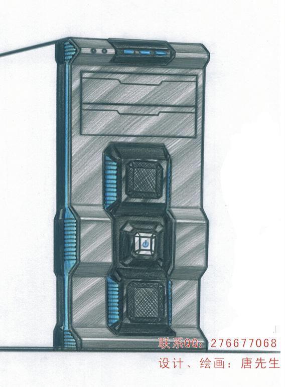 手绘-电脑机箱面板案例图片 - 设计师张海先生设计室