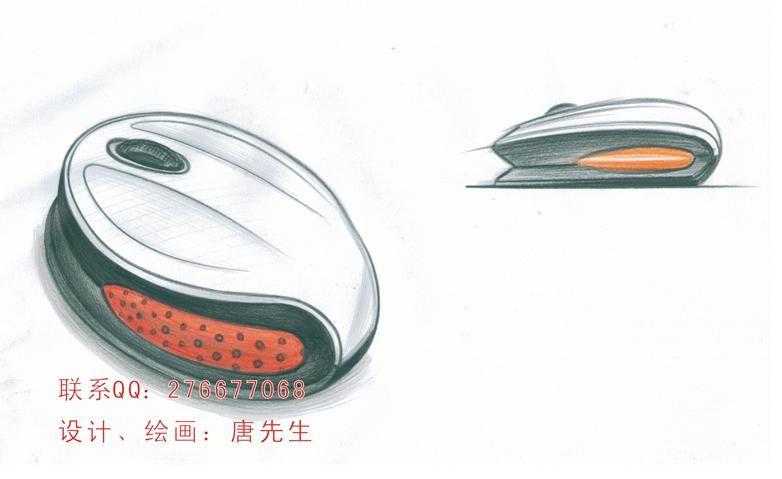 工业鼠标手绘效果图图片展示