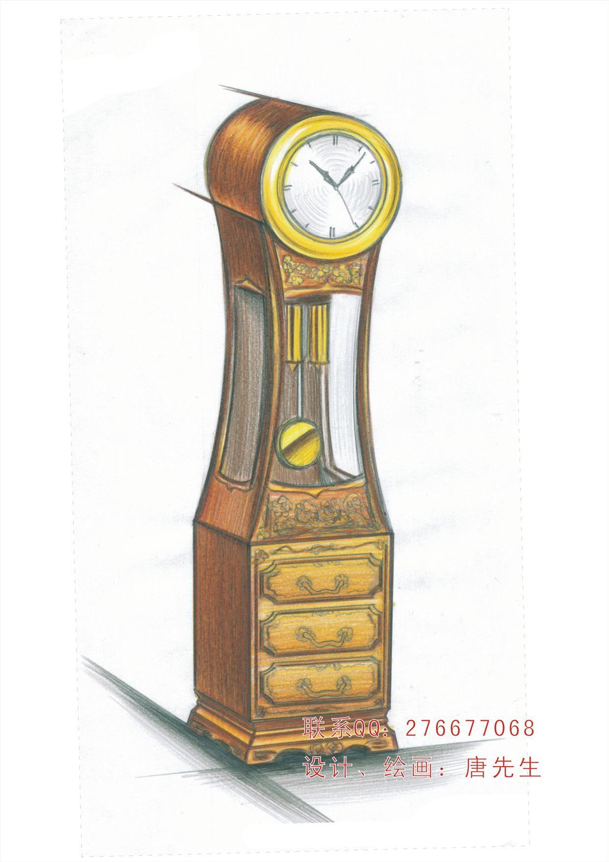 手绘设计-堂钟
