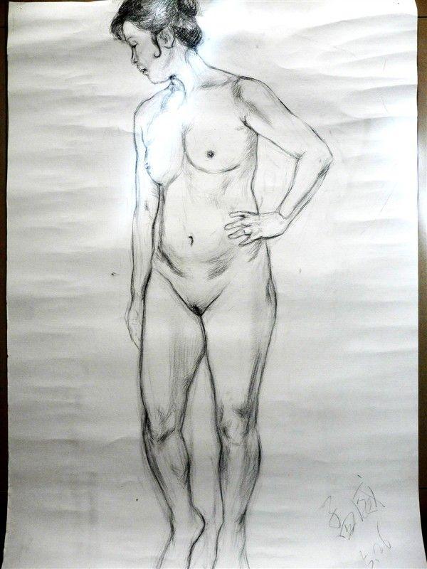 女人体1案例图片 素描作品