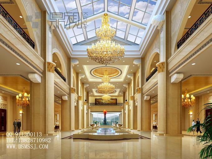 酒店大堂效果图图片
