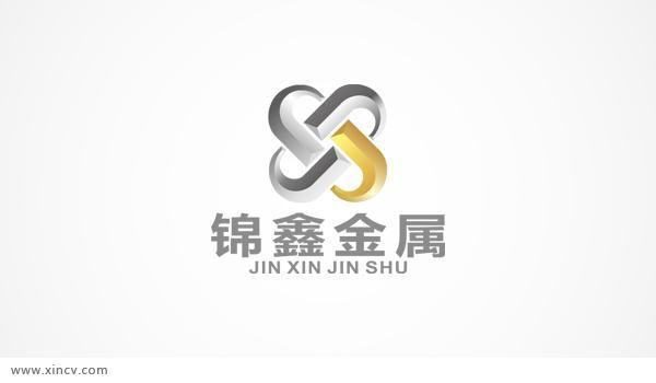 锦鑫金属logo设计案例图片 - 星辰风设计的空间 - 红