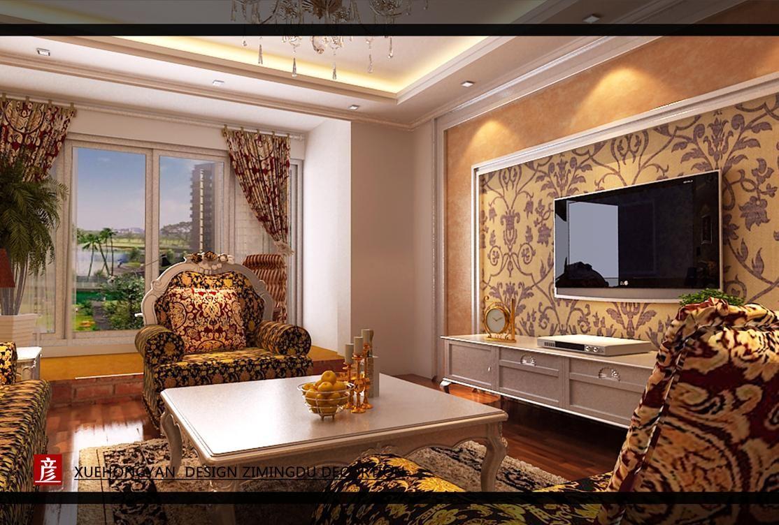欧式客厅案例图片-室内效果图-展示设计