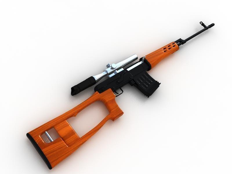 svd狙击枪 3dmax vray