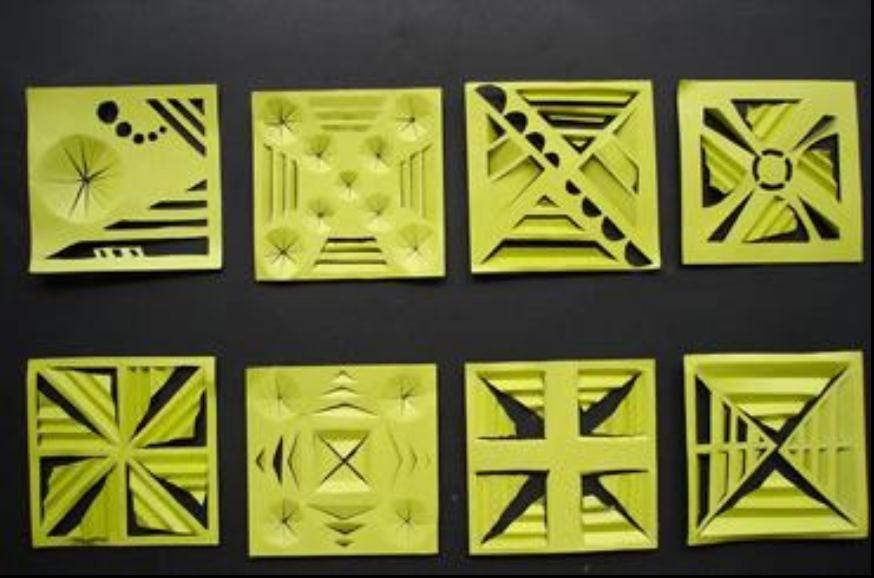 红动中国设计空间 折纸 不切多折 一切多折 多切多折 工业设计素材