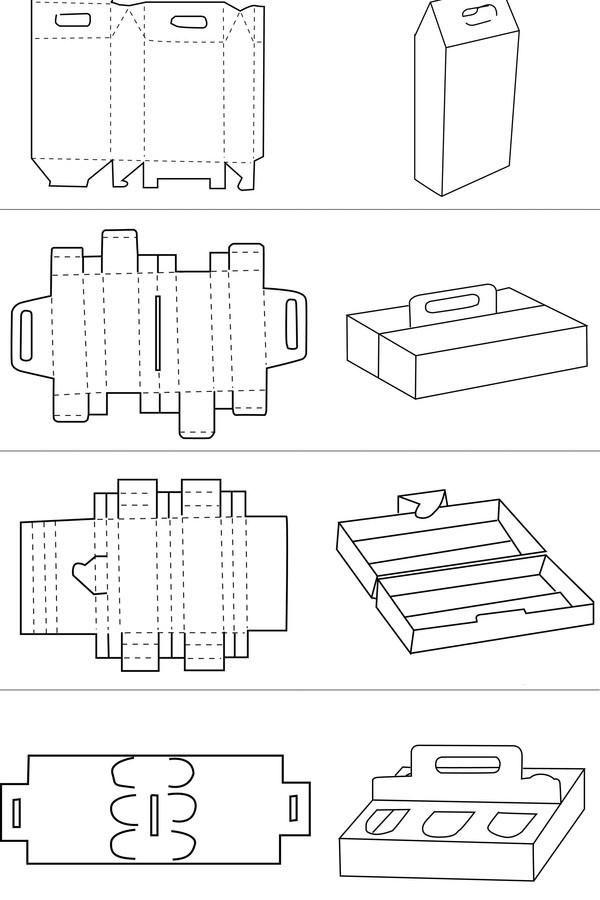 纸盒包装展开图-产品包装—精彩云集-设计案例图片