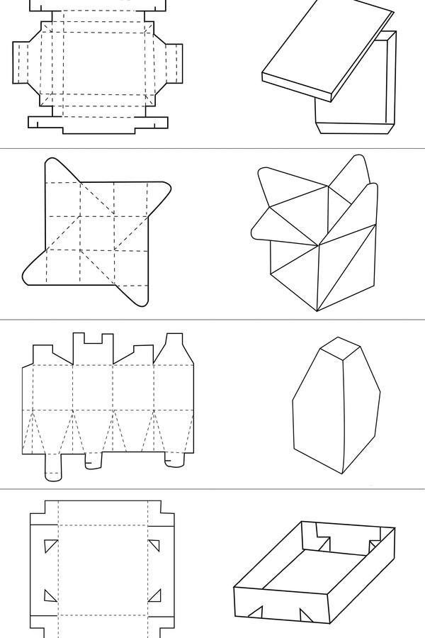 创意纸盒包装设计欣赏 纸盒包装结构图