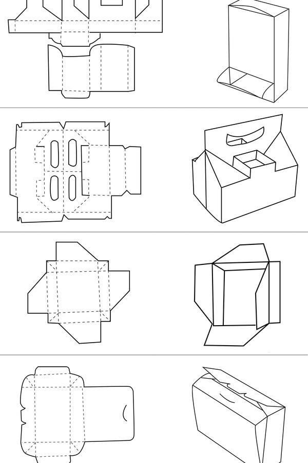 纸盒包装展开图案例图片-纸盒