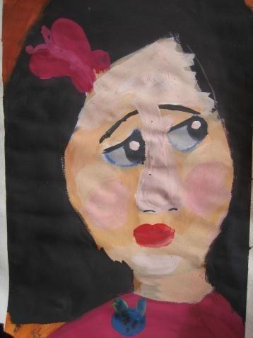 水粉案例图片-基础色彩头像-造型