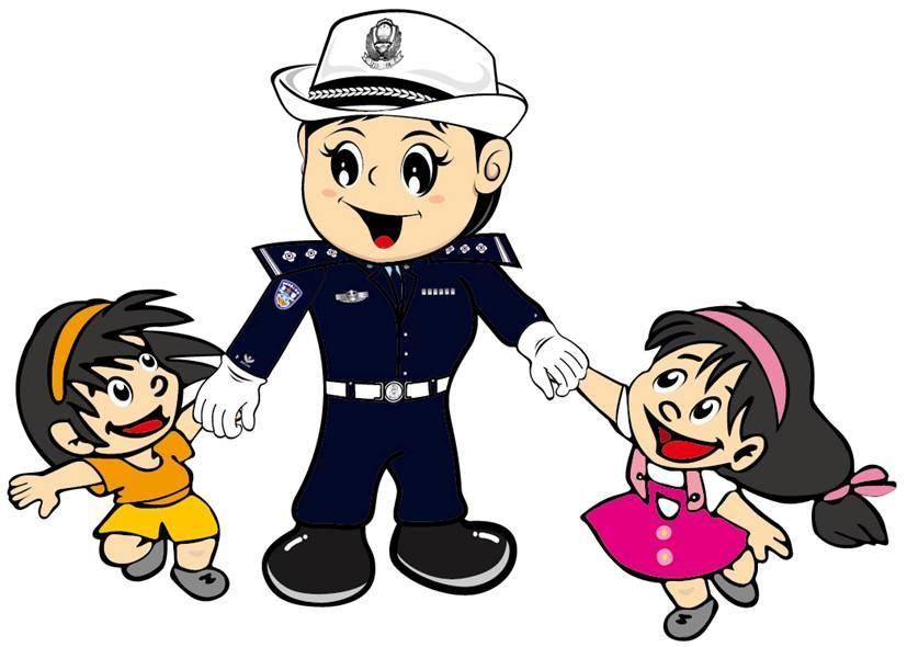 交警接线员卡通