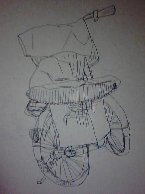 速写 自行车 盐豆子 腌制 记忆 陪伴 艺术 美术 未来 努力 做主 自信