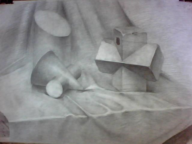素描 初学者 罐子 构图 结构 比例 设计 绘画 艺术生活
