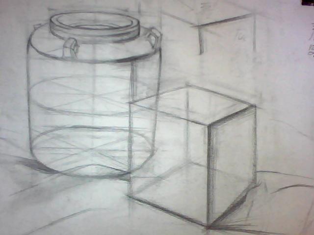 素描 初学者 罐子 构图