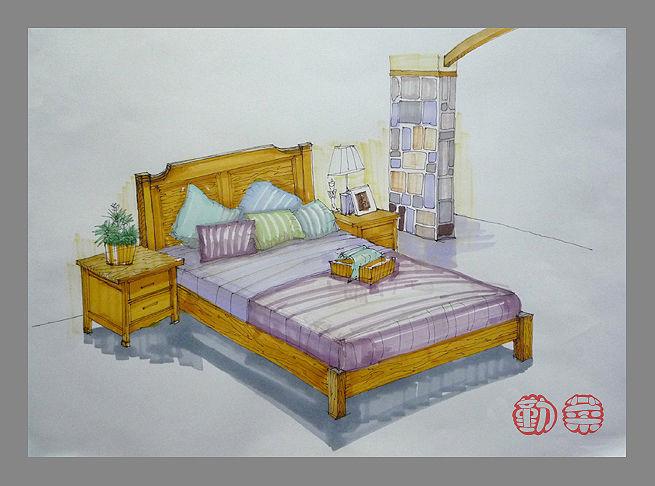 单体沙发手绘图步骤