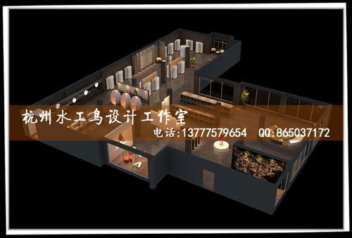 杭州大厦女装店设计案例图片 杭州奥彩效果图设计公司的空间 红动中高清图片