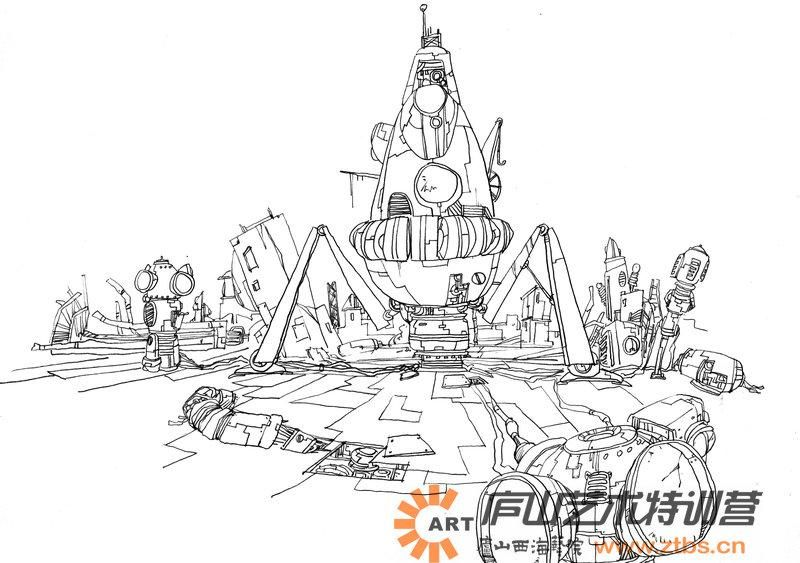 庐山艺术特训营手绘