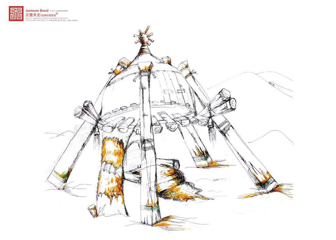 沙漠景观-手绘-设计案例