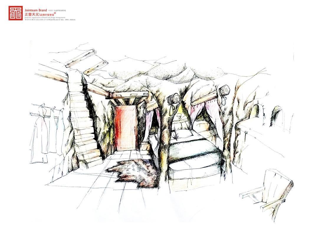 沙漠手绘 沙漠骆驼手绘