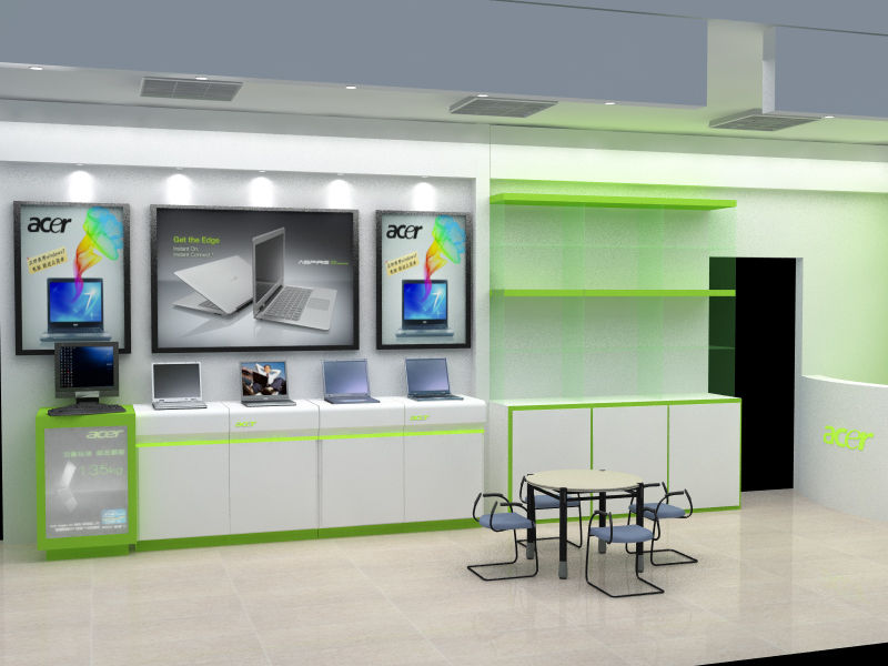 电脑店装修设计图纸