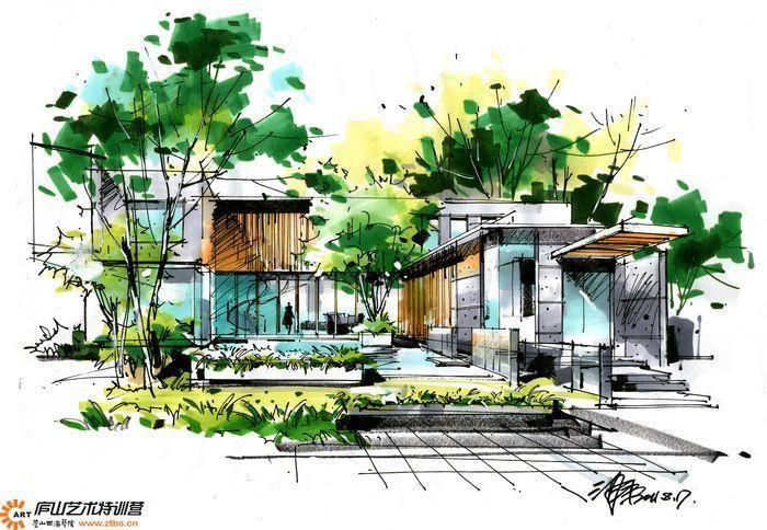 设计表; 手绘精英精品-2011年最新沙沛手绘建筑别墅