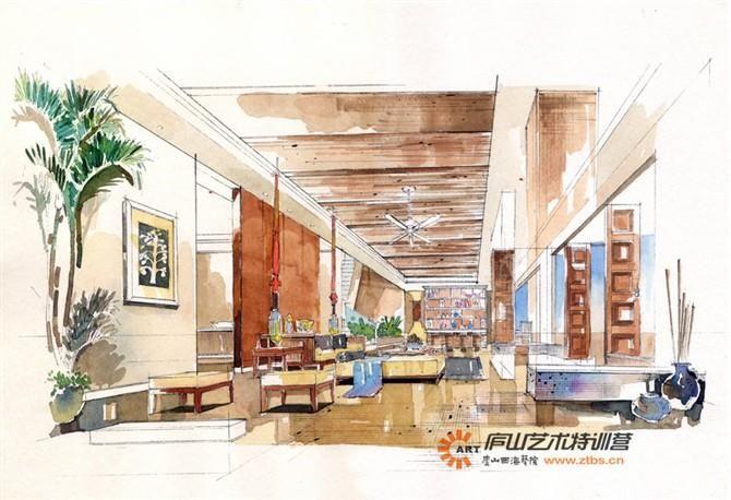 庐山艺术特训营 室内空间手绘设计