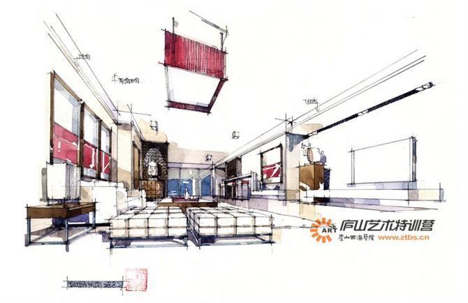 庐山艺术特训营 室内空间手绘设计-手绘-经典案例
