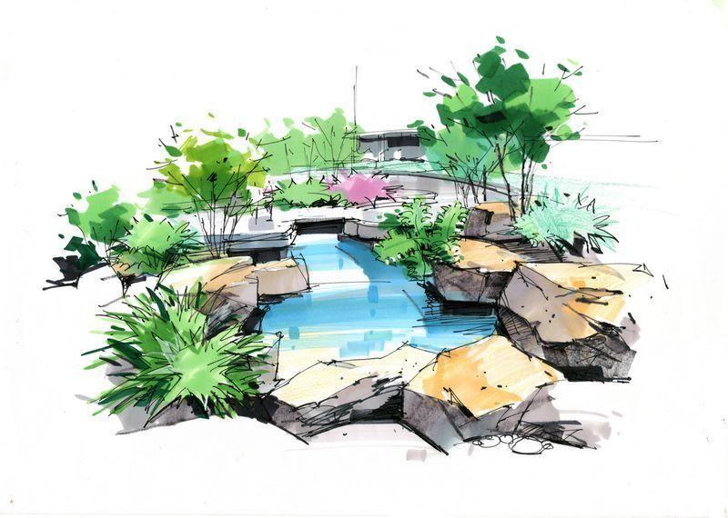 庐山艺术特训营植物单体-手绘-设计案例