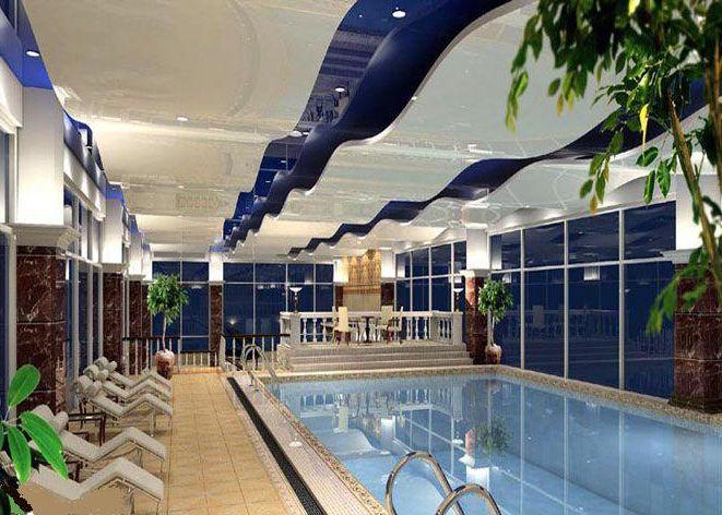 游泳馆拉膜天花吊顶-软膜天花-设计案例