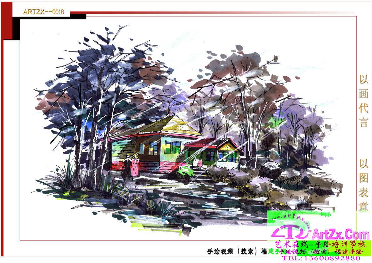 景观设计手绘案例图片