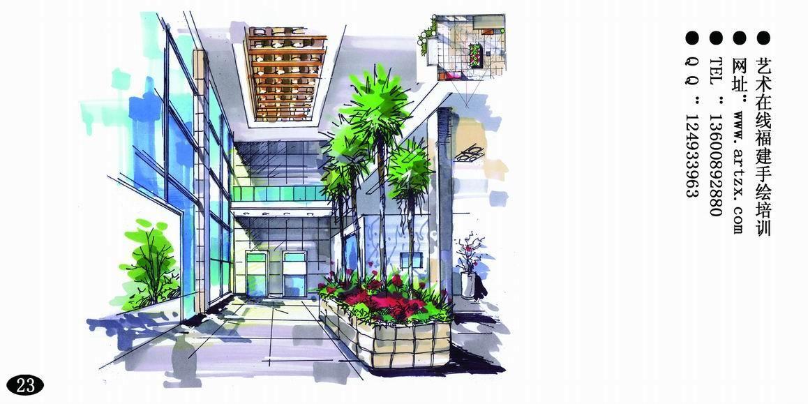 福建手绘 室内 景观-景观设计手绘-设计案例