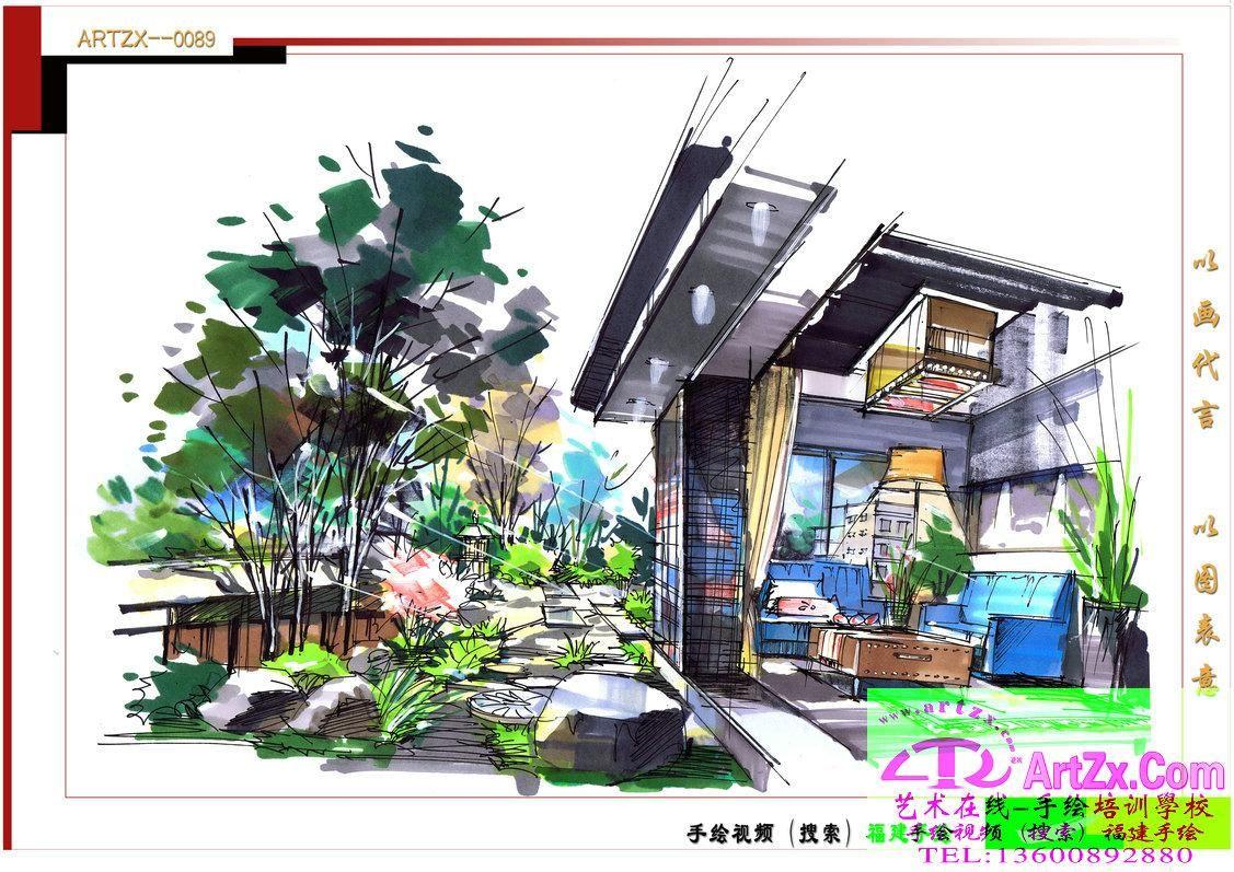 景观设计手绘-景观设计手绘-设计案例