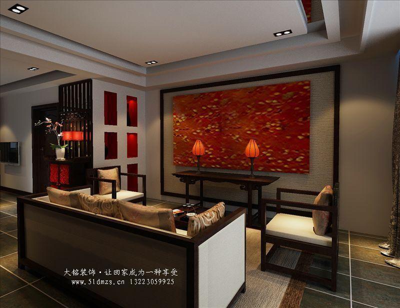 中式风格效果图,家庭装修效果图案例-家庭装修设计