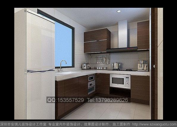 现代家装厨房效果图作品-简欧客厅装修效果图作品 客厅效果图制作高清图片