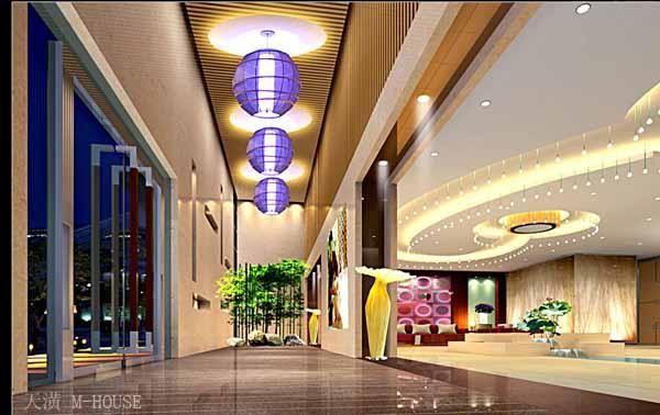 美容院装修效果图大厅-红酒会所内部装修空间及灯光案例图片 设计师图片