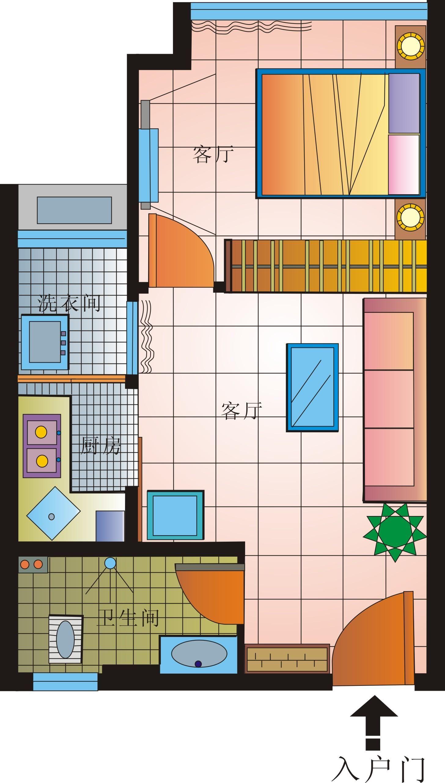 手绘平面图-室内设计-设计案例